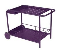 Side table / Bar with wheels Aubergine