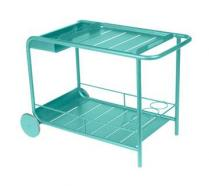 Side table / Bar with wheels Lagoon Blue