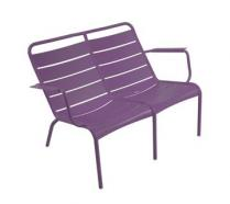 Low armchair Duo Aubergine