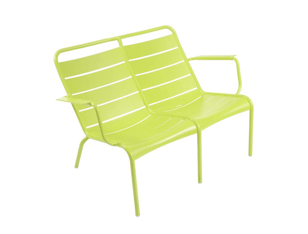 fauteuil bas duo luxembourg fermob d 39 ext rieur 2 personnes empilable aluminium couleur. Black Bedroom Furniture Sets. Home Design Ideas