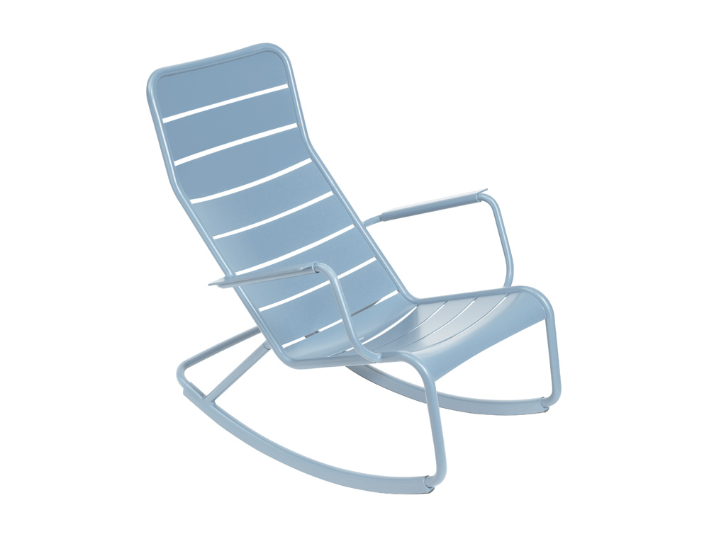 luxembourg outdoor rocking chair designed by studio fermob. Black Bedroom Furniture Sets. Home Design Ideas