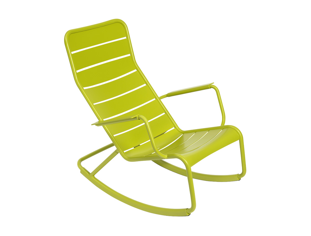 luxembourg outdoor rocking chair designed by studio fermob