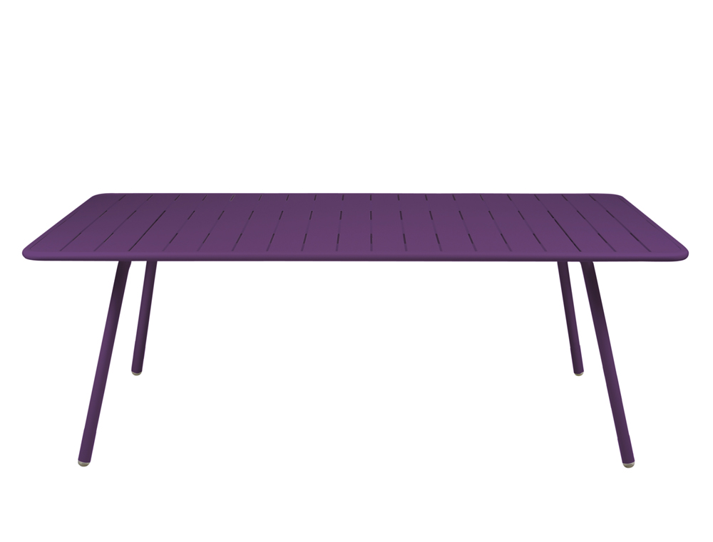 Fermob luxembourg large colourful metal table for outdoors - Table hauteur 100 cm ...