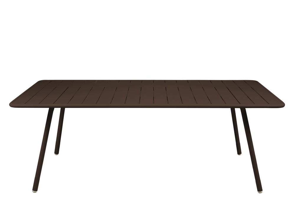 grande table luxembourg 100x207cm fermob d ext rieur rectangulaire m tal d montable color e. Black Bedroom Furniture Sets. Home Design Ideas