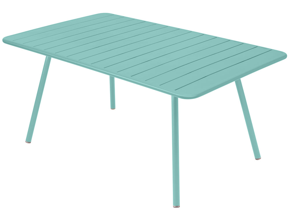 Luxembourg rectangular aluminium garden table seats 8 fermob for Fermob luxembourg table