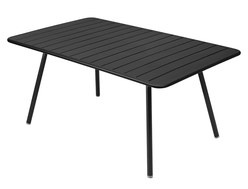 Luxembourg rectangular aluminium garden table seats 8 fermob - Table hauteur 100 cm ...