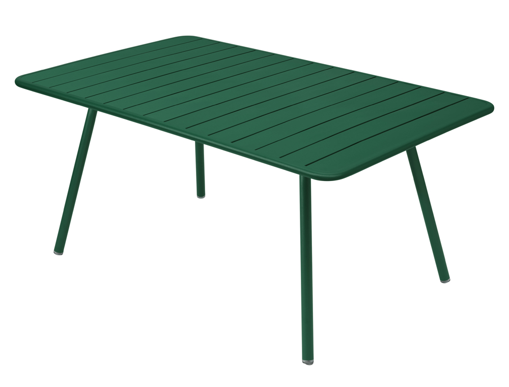 Luxembourg rectangular aluminium garden table seats 8 fermob - Table fermob cargo ...