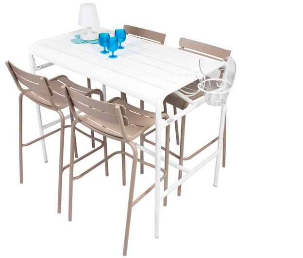 gu ridon haut luxembourg fermob table haute contemporaine m tal en couleurs pour l 39 ext rieur. Black Bedroom Furniture Sets. Home Design Ideas