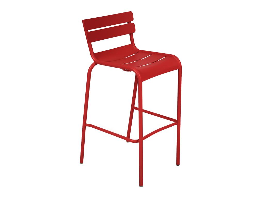 tabouret haut luxembourg fermob chaise haute de jardin empilable en alu et en couleurs. Black Bedroom Furniture Sets. Home Design Ideas