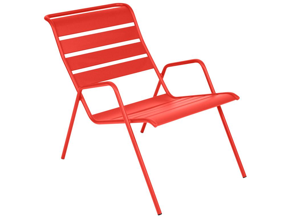 Fauteuil bas monceau fermob meuble de jardin moderne en m tal et en couleurs - Fauteuil bas ontwerp ...