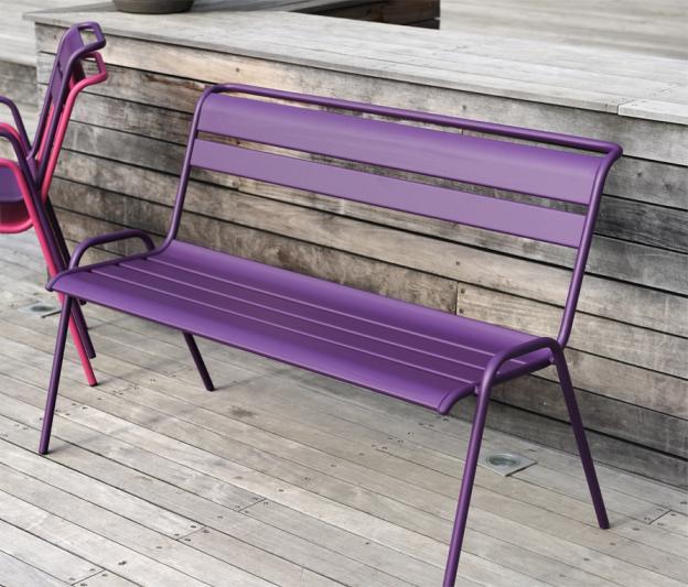 banc de jardin monceau fermob banc design en fer et en couleurs. Black Bedroom Furniture Sets. Home Design Ideas