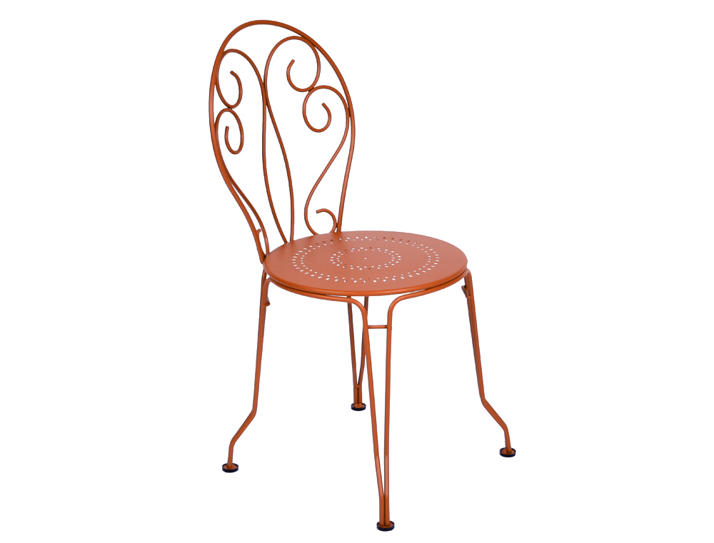 fermob montmartre garden chair traditional colourful wrought iron furniture with scrolls