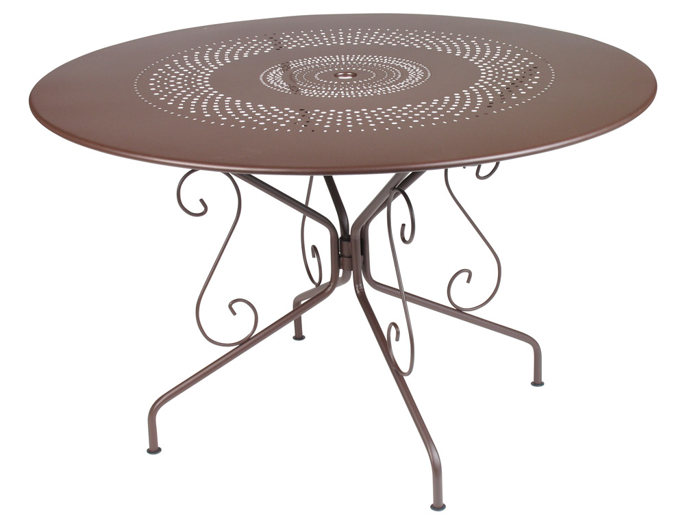 Table montmartre fermob fran aise table 6 personnes en fer - Grande table ronde de jardin ...