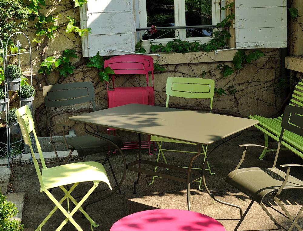 Fermob op ra colourful modern rectangular metal outdoor - Fermob opera table ...