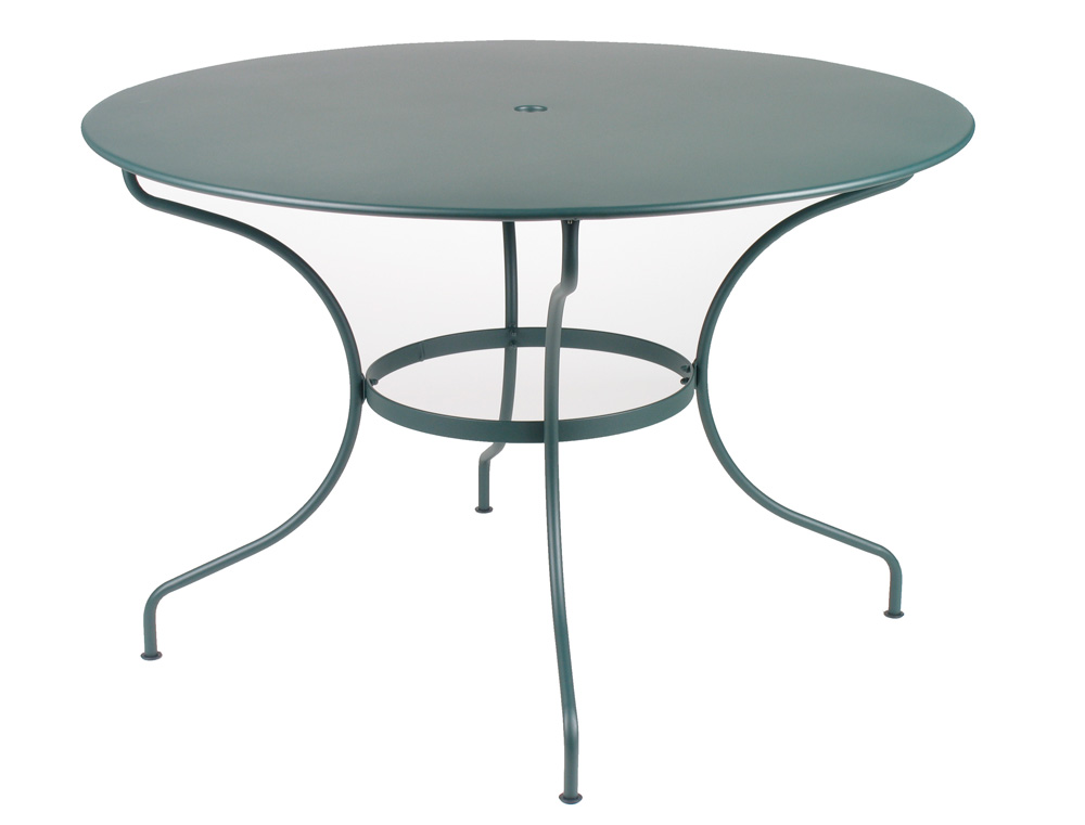 fermob op ra colourful modern round iron outdoor table for 6 people. Black Bedroom Furniture Sets. Home Design Ideas