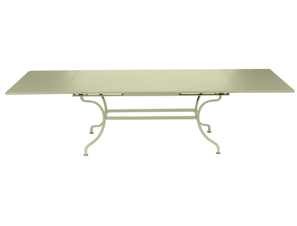 Fermob romane colourful large designer iron rectangular table with extensions for Table 300 cm