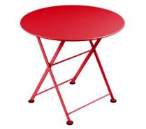 Table basse Ø 55 cm Coquelicot