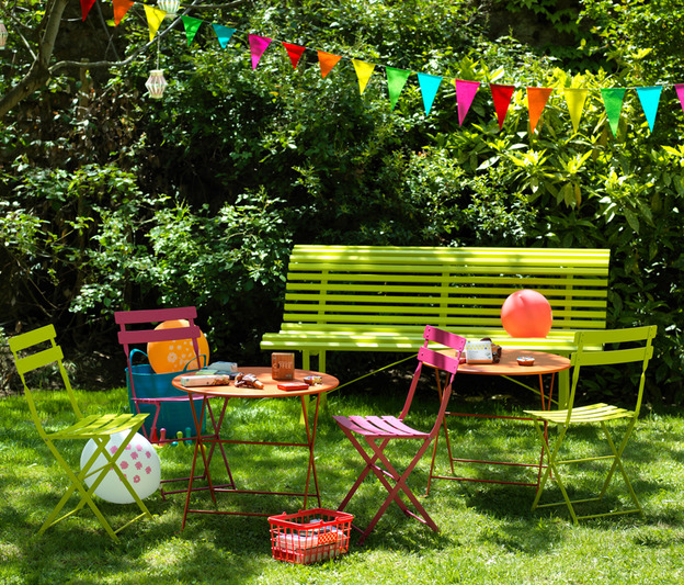 Fermob Tom Pouce Colourful Outdoor Designer Metal Table For Children