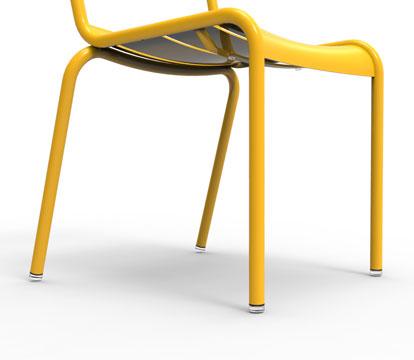 pièces détachées fermob, patin chaise fermob, patin table fermob, patin bistro fermob